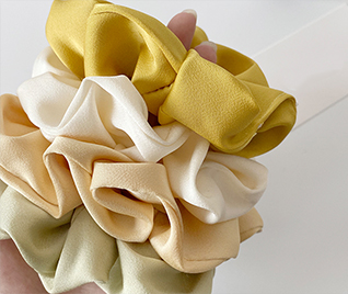 Silk headdress flower